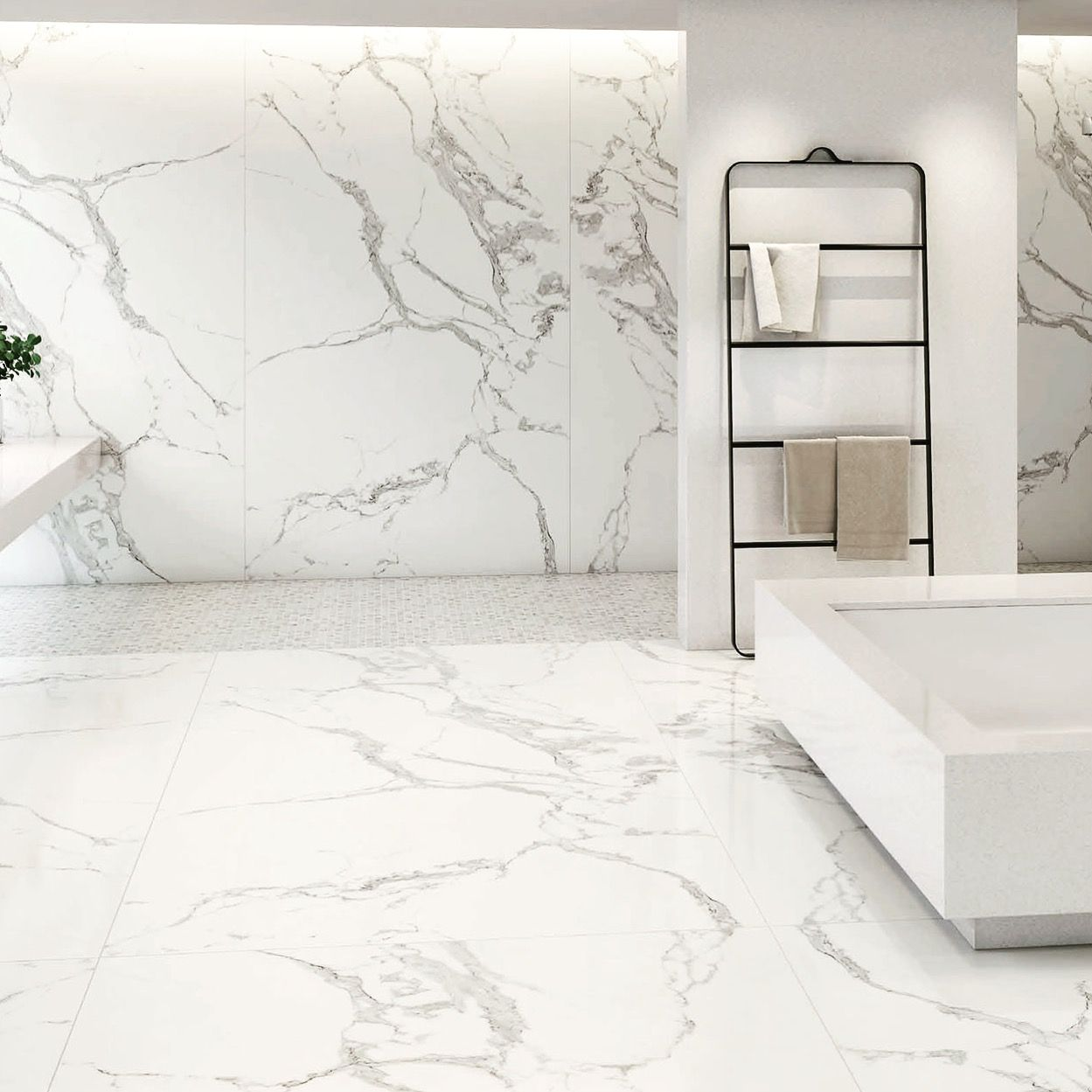 Azulejo porcel nico de gran formato imitaci n m rmol - Suelos imitacion marmol ...