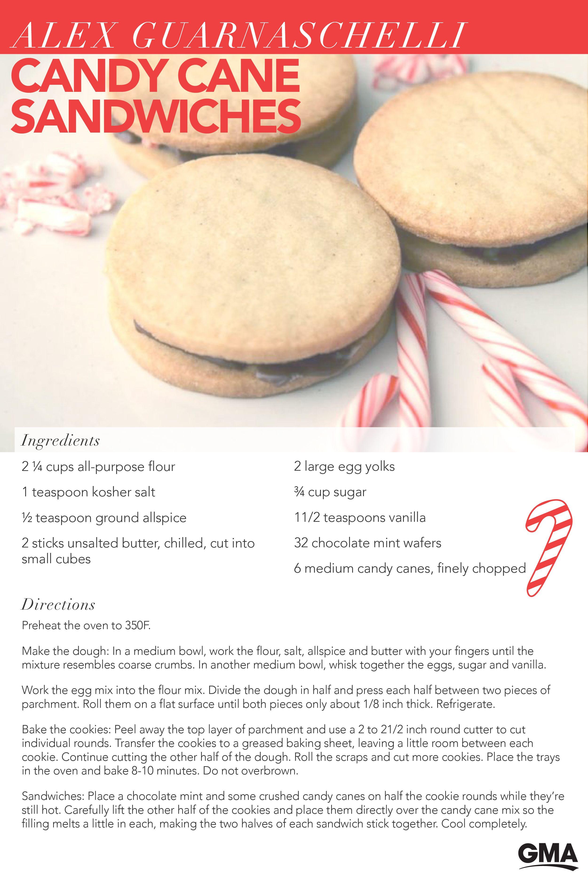 Get Alex Guarnaschelli S Candy Cane Cookie Sandwiches Recipe