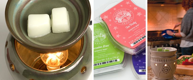 A Scentsy warmer is electric with a lightbulb and it warmers the wax which makes your house smell awesome...like a candle but much safer. http://shaunawhitehead.scentsy.us