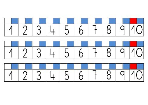 RECTA NUMÉRICA PARA LA MESA 1 AL 10 DEFINITIVA.pdf - OneDrive | Math ...