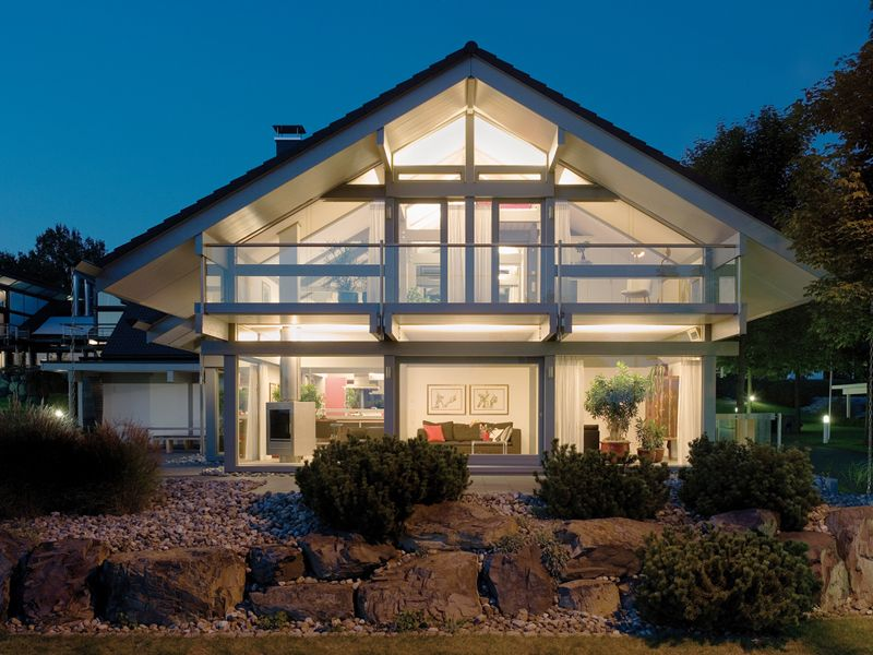 Modern Post And Beam Architecture By Huf Haus Architecture Modern Mansion Forest House