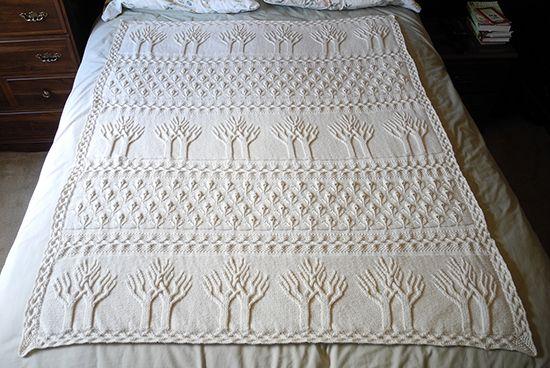 Tree Of Life Afghan Free Knitting Pattern Crochet Tree