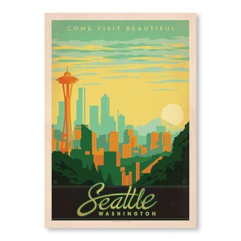 Seattle Washington Wall Art - Casafina