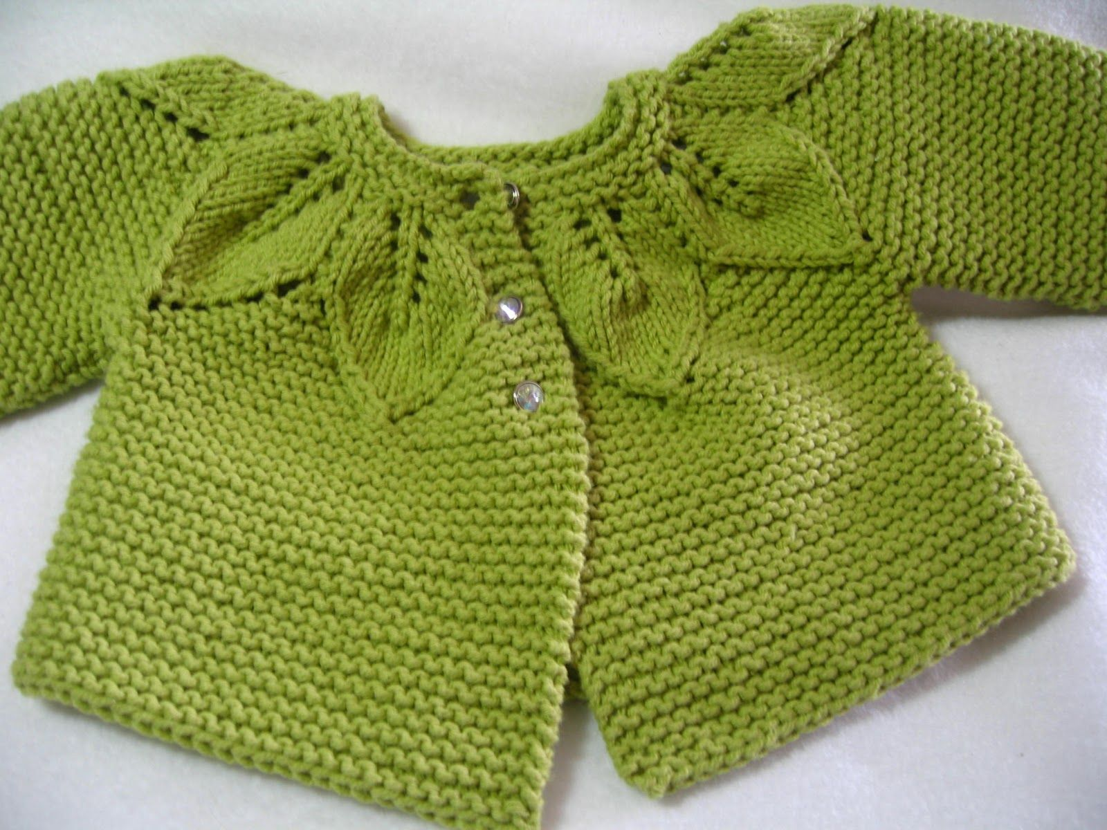 Baby sweater knitting pattern pattern knit lace leaves pattern knit lace leaves leisure arts yarn lion brand cotton ease needles size 5 7 i went up one size erratas for this patt bankloansurffo Choice Image