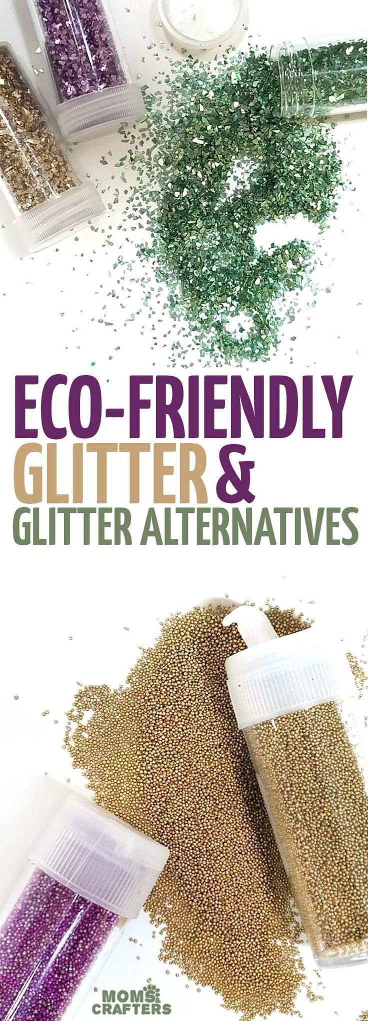 If you love crafting with glitter but want an eco friendly glitter option, these biodegradable glitter ideas inclde some glitters and glitter alternatives. #glitter #teencrafts #ecofriendly #GlitterCrafts
