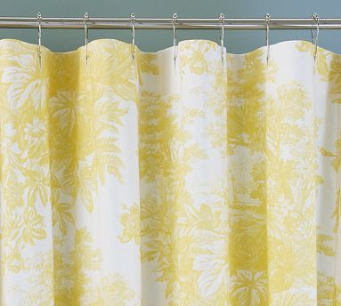 Matine Toile Shower Curtain Potterybarn Elegant Shower Curtains
