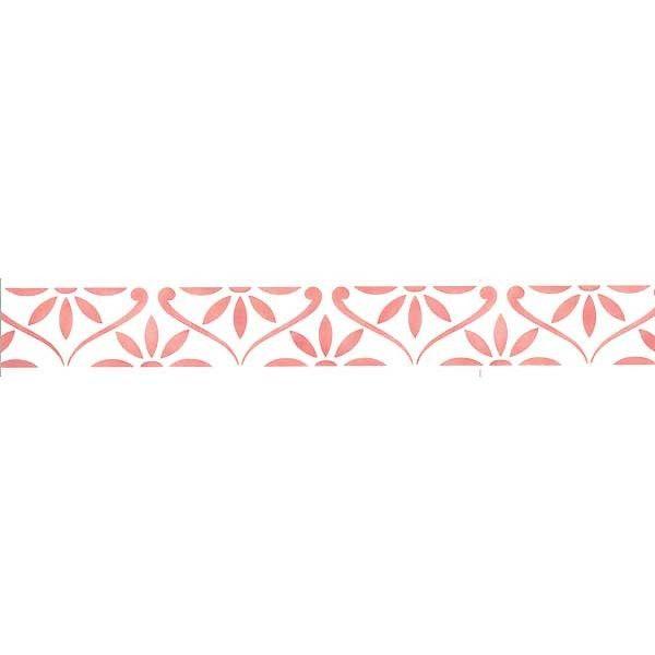 Border Stencils   Half Daisy Chain Wall Stencil   Royal Design Studio