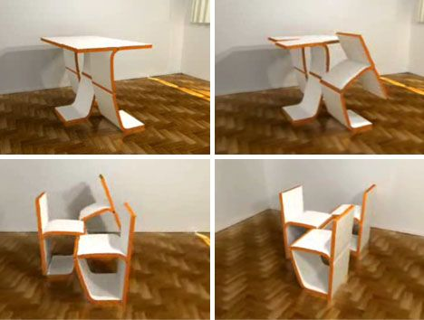 Modular Convertible Chairs, Table U0026 Storage Furniture Set
