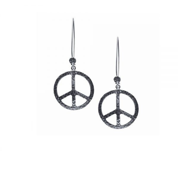 Silver Peace Sign Earrings Jewelrytrends