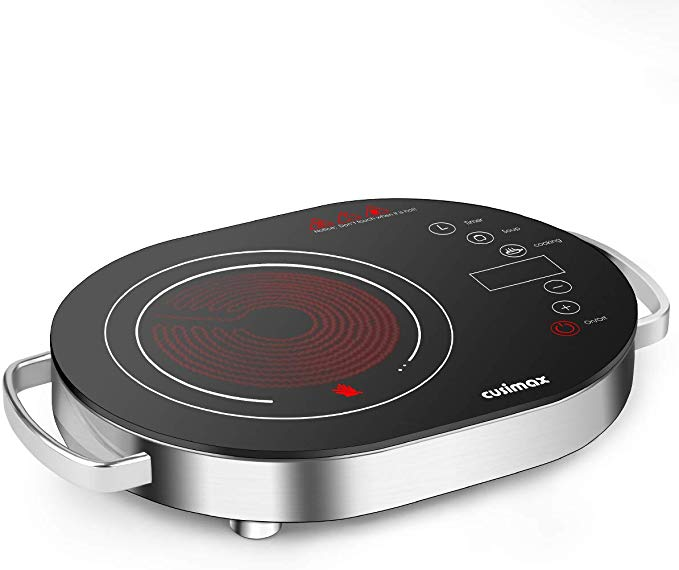 Amazon Com Cusimax Hot Plate Electric Stove 1500w Led Infrared Single Burner Portable Heat Up In Seconds 7 9 Inc In 2020 Glass Cooktop Single Burner Electric Stove