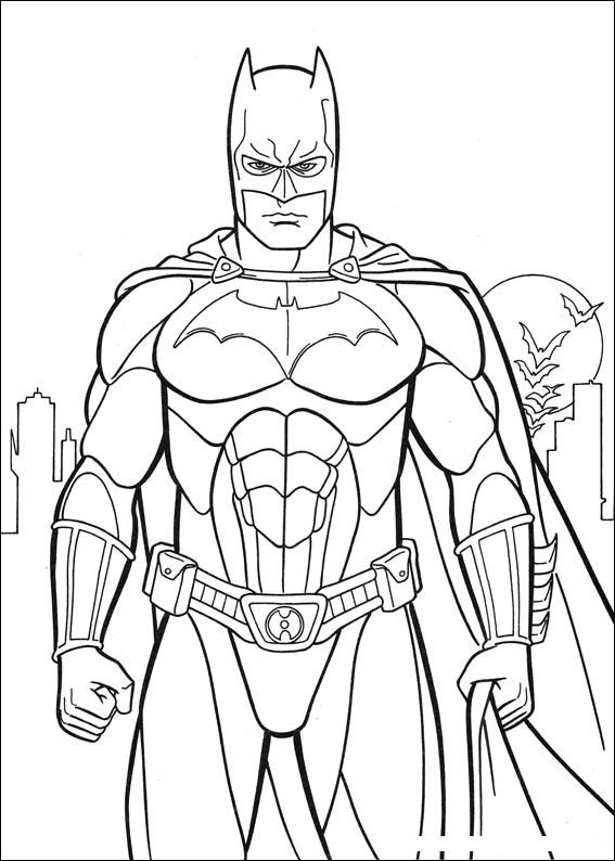 Batman Coloring Page Superhero Coloring Pages Batman