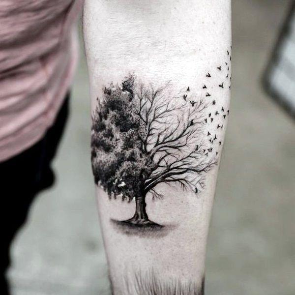 53c33e5941ef2 40 Tiny Bird Tattoo Ideas To Admire   tattoo ideas   Tattoos, Tree ...