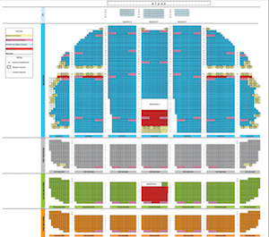Radio city music hall seating chart with seat views entertainment