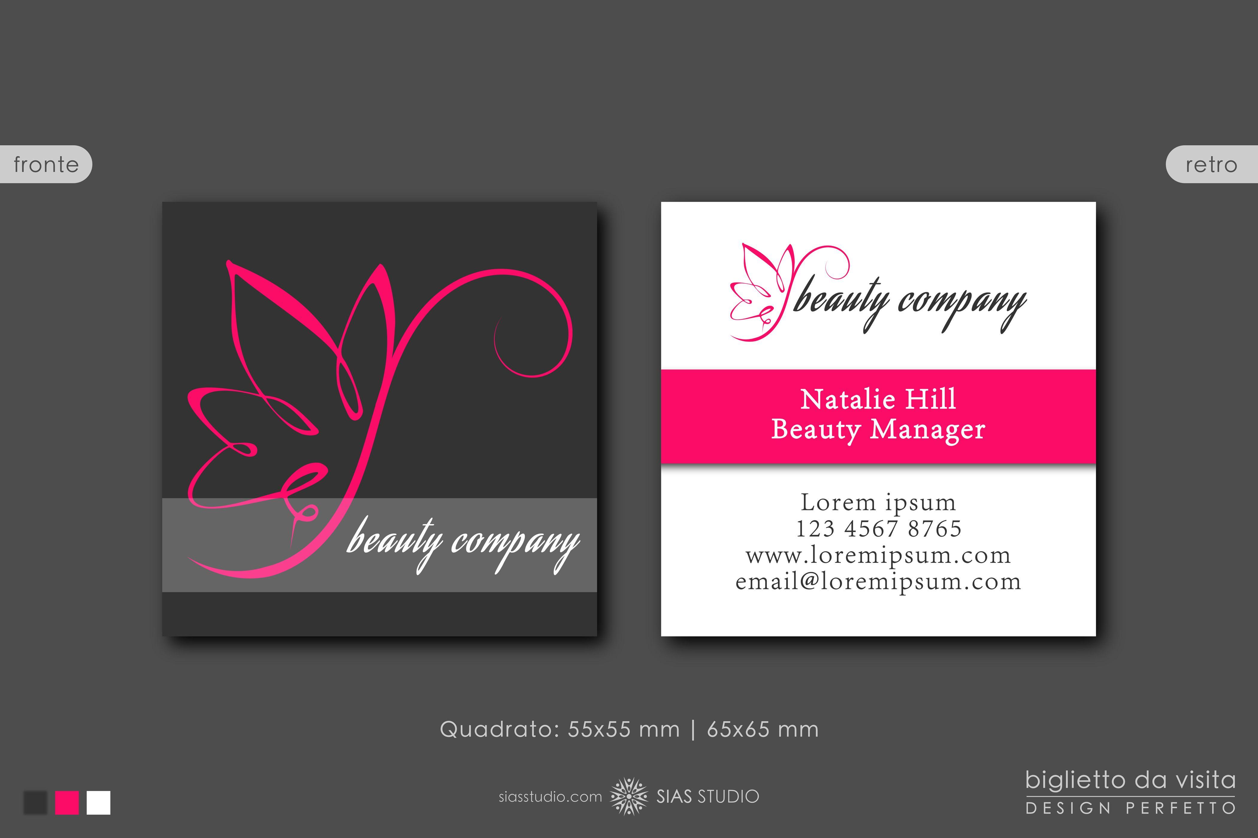 Modello Per Biglietto Da Visita Beauty Company Design Con