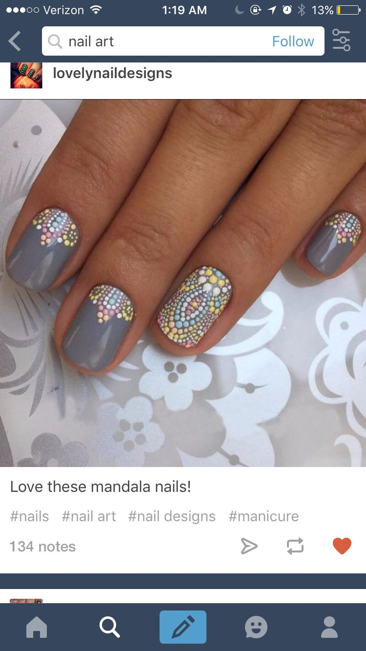 Pin by Stephanie Edson on Dotted Nail Designs   Pinterest   Hair ...