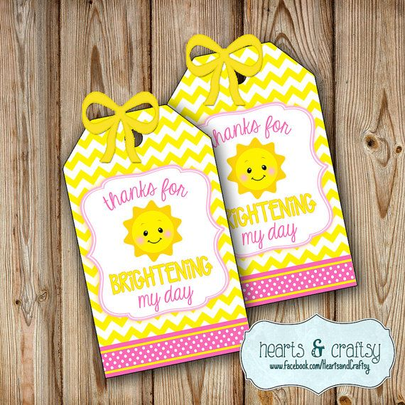 You Are My Sunshine Party Favor Tags Sunshine Birthday Party