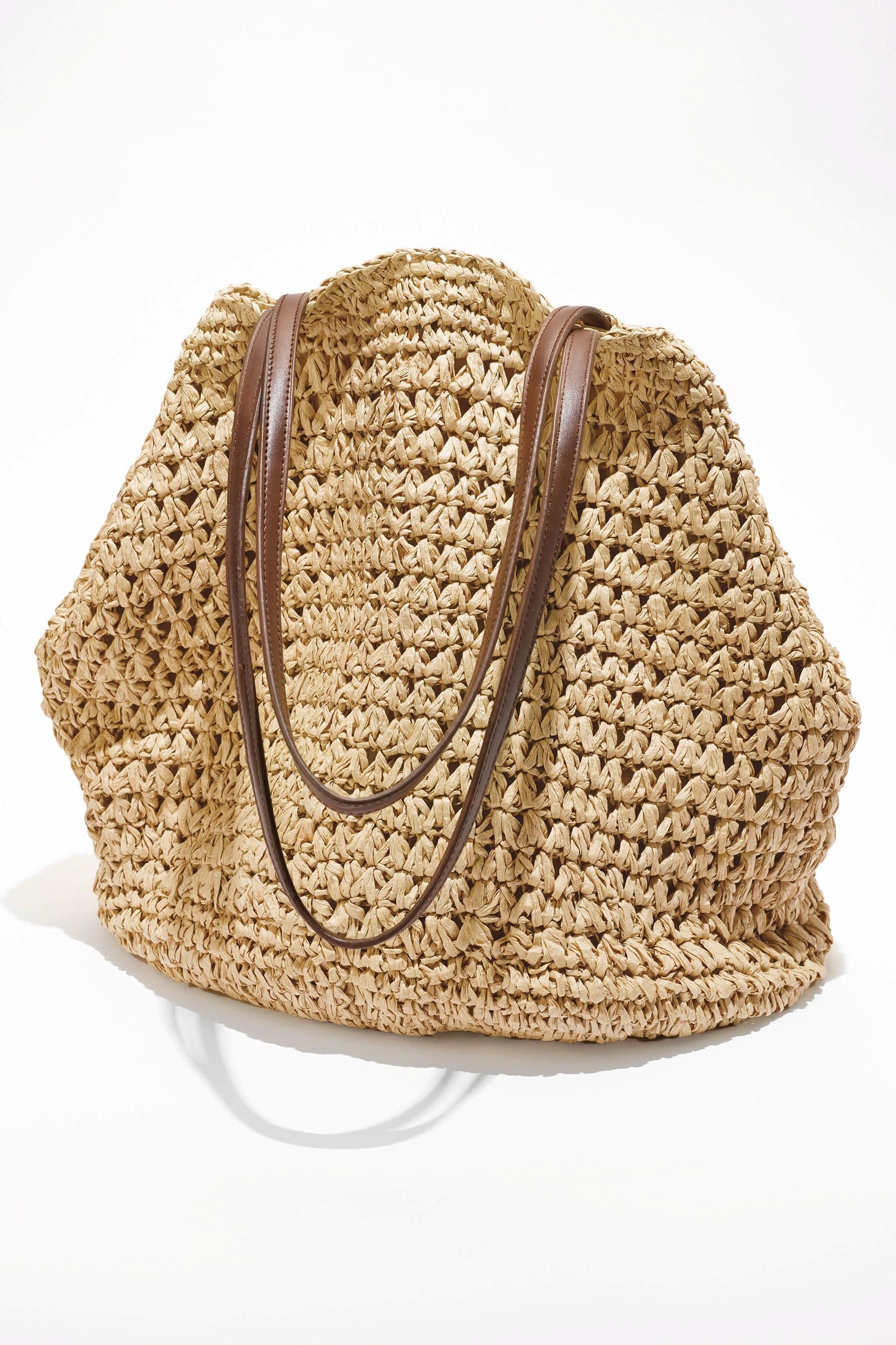 Buy Straw Weave Slouchy Hobo Bag from the Next UK online shop ... 1179c6ea7182b