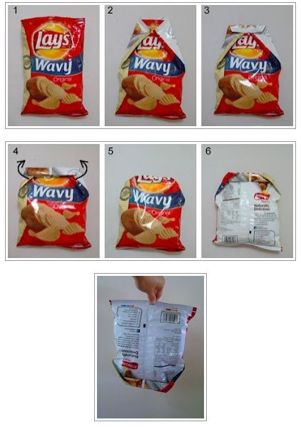 Cerrar Una Bolsa De Patitas Chip Bag Folding Food Hacks Life Hacks