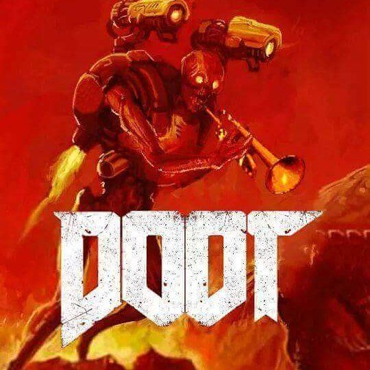 Agitated Skeleton Of Dooting Visits The Doom Marine Doot