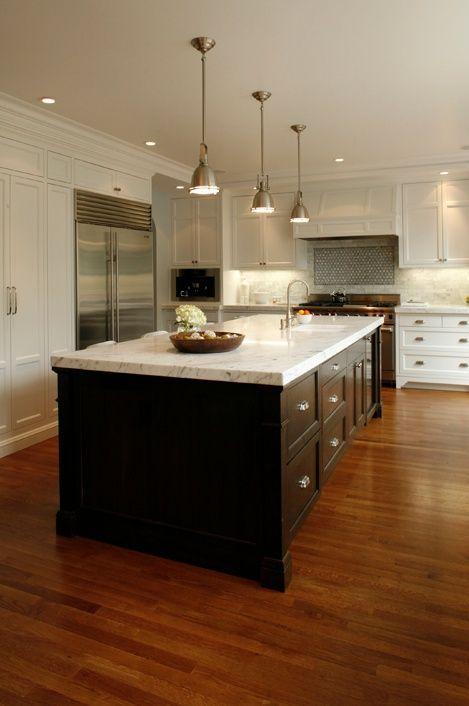 Benson Pendants Kitchen Design Kitchen Restoration Dark Kitchen Cabinets