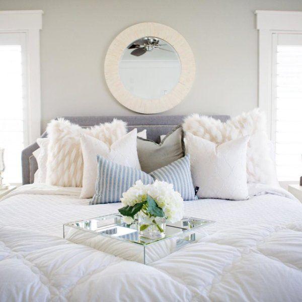 Oversized Ivory Faux Fur Eyelash Pillow Bed Deco White