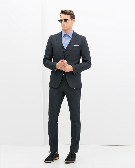Image 1 of FINE CHECKED SUIT from Zara | My looks | Pinterest ...