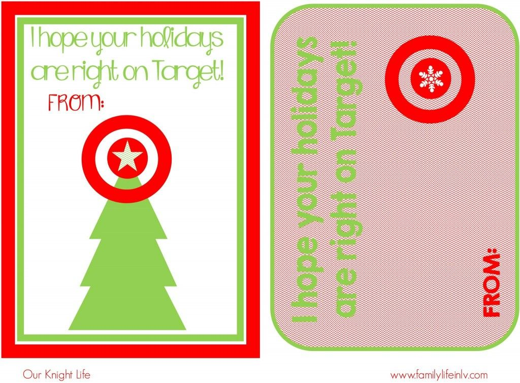 Teacher Gift Ideas - printable christmas gift certificate