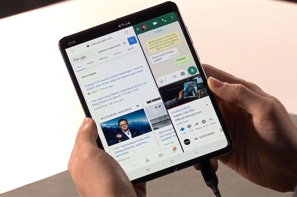 Galaxy Fold 2 Could Feature Worlds First Under Display Camera Simply Based On Rumors The Galaxy Fold 2 Could Be The Most Ambit Galaxy Samsung Galaxy Phone Fold