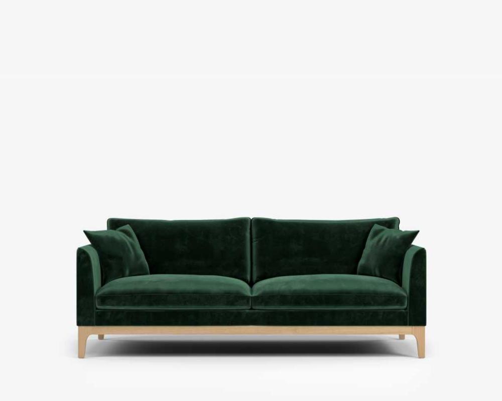 Loren Sofa Plush Velvet Moss Sofa Scandinavian Style Sofa Rove Concepts