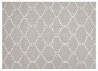 Serra Flat-Weave Rug, Gray