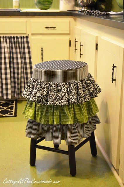 Room · ruffled kitchen stool cover ... & A Few More Kitchen Updates | Stool covers Stools and Ruffles islam-shia.org
