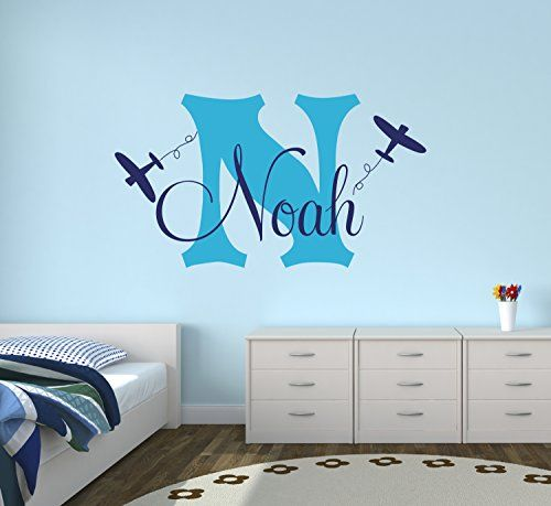 Personalized Airplanes Name Wall Decal Boys Kids Room Decor Nursery Wall Decals Airplanes Wall Decors - & Personalized Airplanes Name Wall Decal Boys Kids Room Decor Nursery ...
