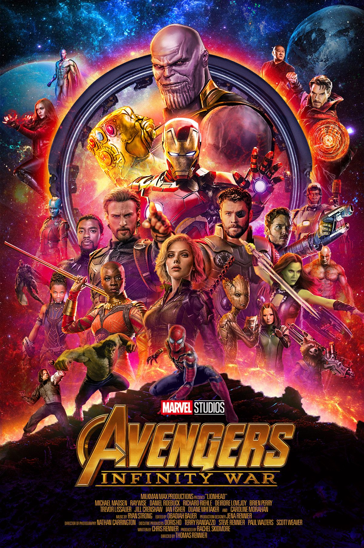 Avengers Infinity War Official Poster Recreated On Behance Avengers Avengers Infinity War Poster