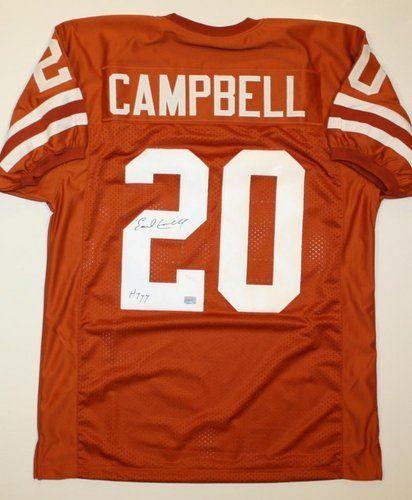bea9c2fd5e0 AAA Sports Memorabilia LLC - Earl Campbell Texas Longhorns NCAA Hand Signed  Authentic Style Orange Jersey