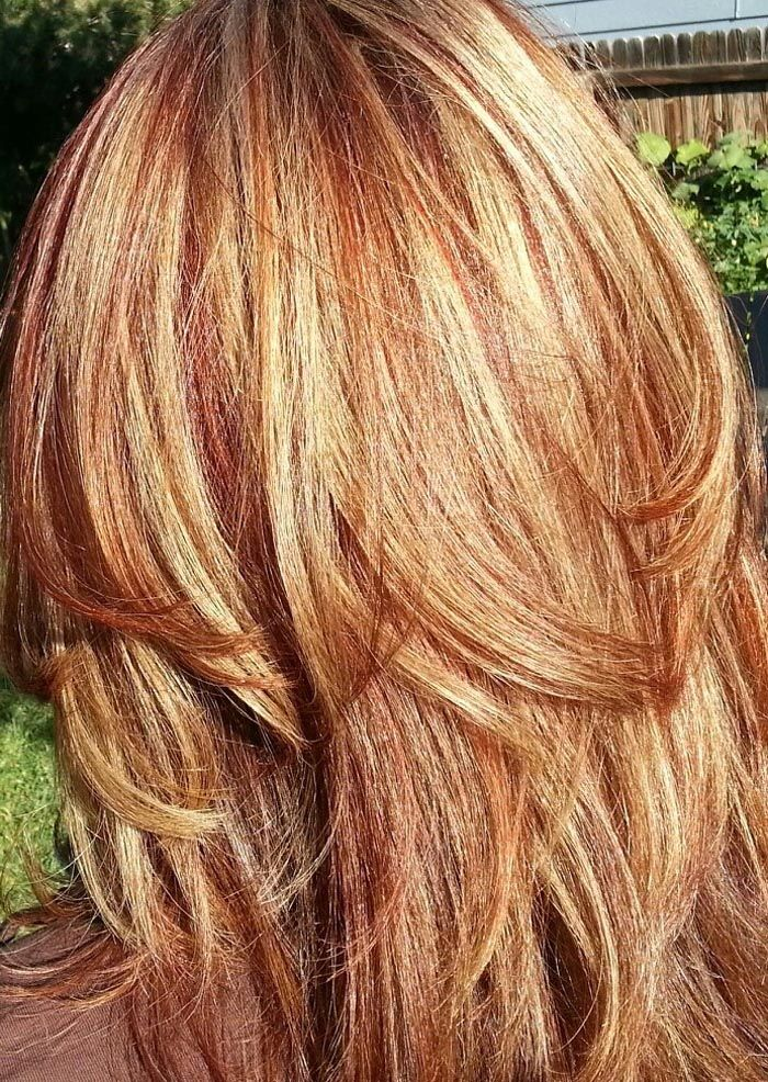 Blonde hair with red and auburn lowlights hair and pretty stuff blonde hair with red and auburn lowlights i feel better now about how my hair turned out i was going for caramel with blonde highlights and it came out pmusecretfo Image collections