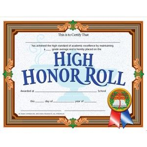 High honor roll certificate 30pack downloadable templates high honor roll certificate 30pack downloadable templates available to personalize or can be yelopaper Image collections