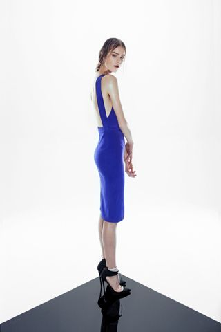 Dion Lee electric blue dress