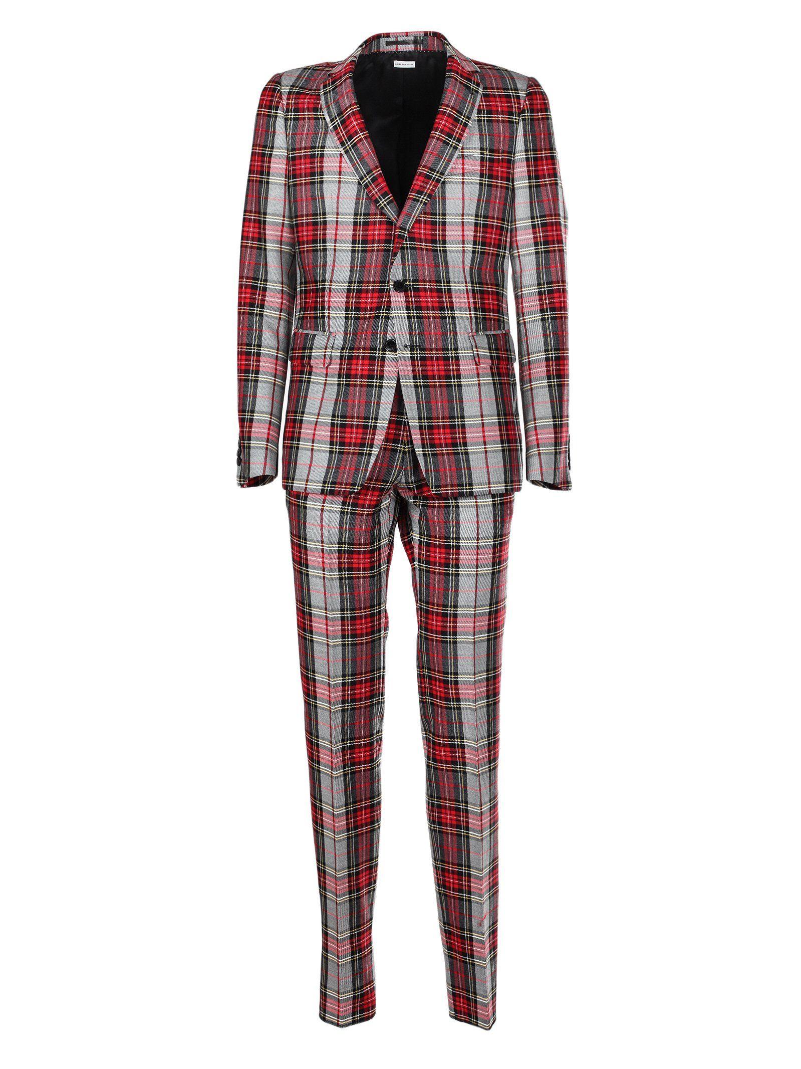 Red flannel nightgown  Dries Van Noten Checked Suit Multi  Dries Van Noten  Pinterest