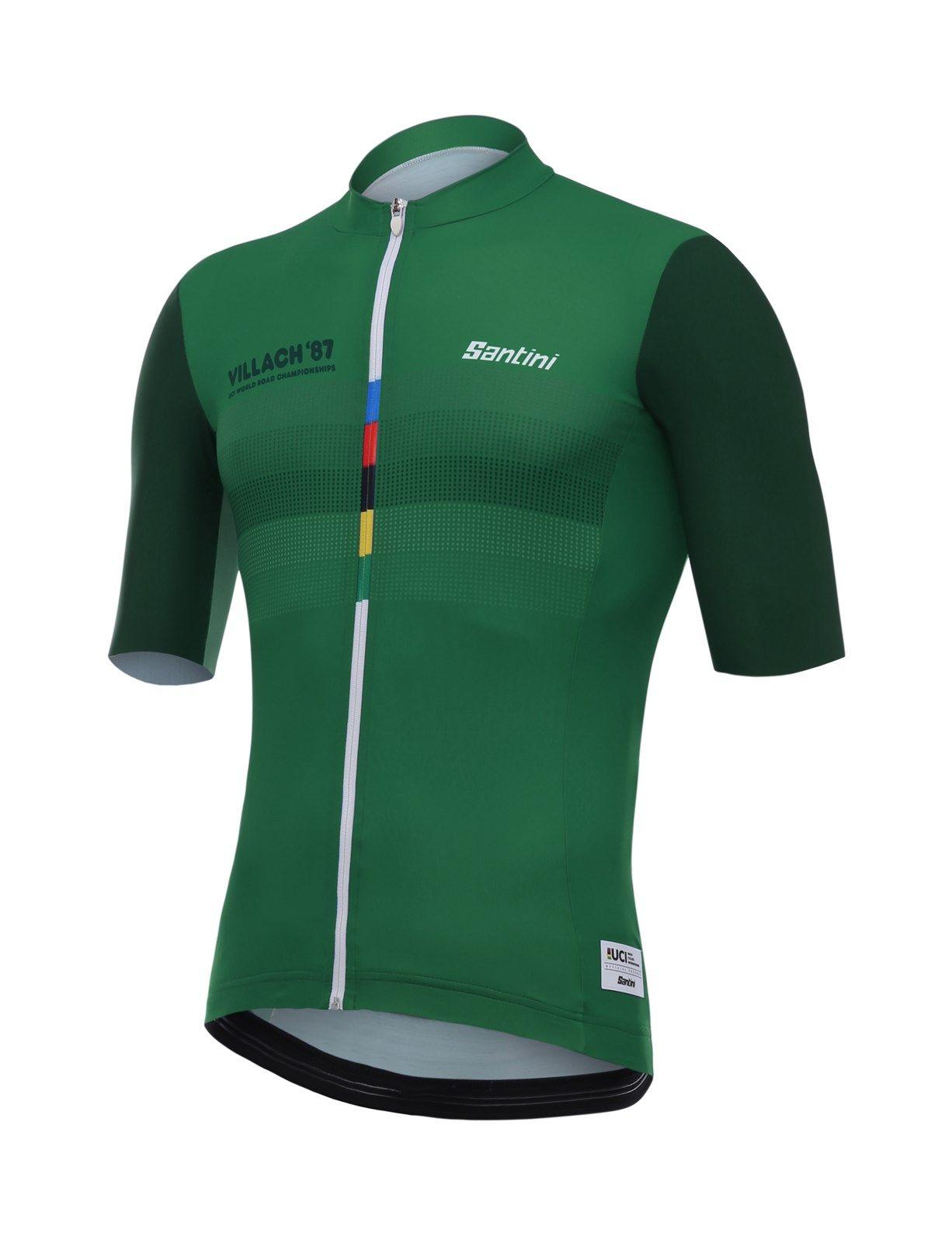 Santini UCI Grandi Campioni 1987 Stephen Roches Jersey Green  7fb9c9493