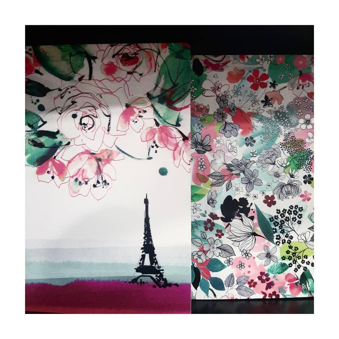 Ce week-end je suis allée voir la collection Blooming à Barbès... ils ont un large choix de cahiers et carnets. ♡  @clairefontaine_officiel @gibert.joseph #art #patterndesigner #elisedemozay #watercolor #aquarelle #encre #ink #aquarellepainting #flowers #papeterie #paperart #paris #eiffeltower #toureiffel #clairefontaine #blooming
