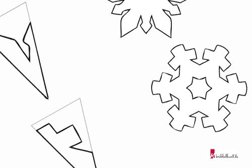 Schneeflocken Basteln Weihnachtsdeko Basteln