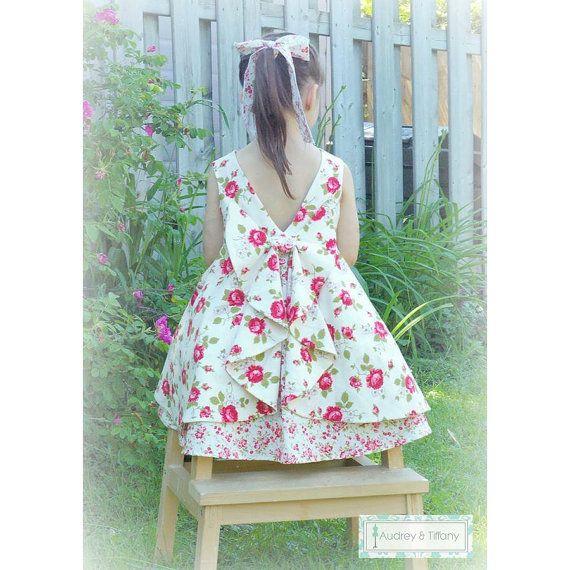La robe Secret Garden - patron PDF - tailles de 2 à 10 ...