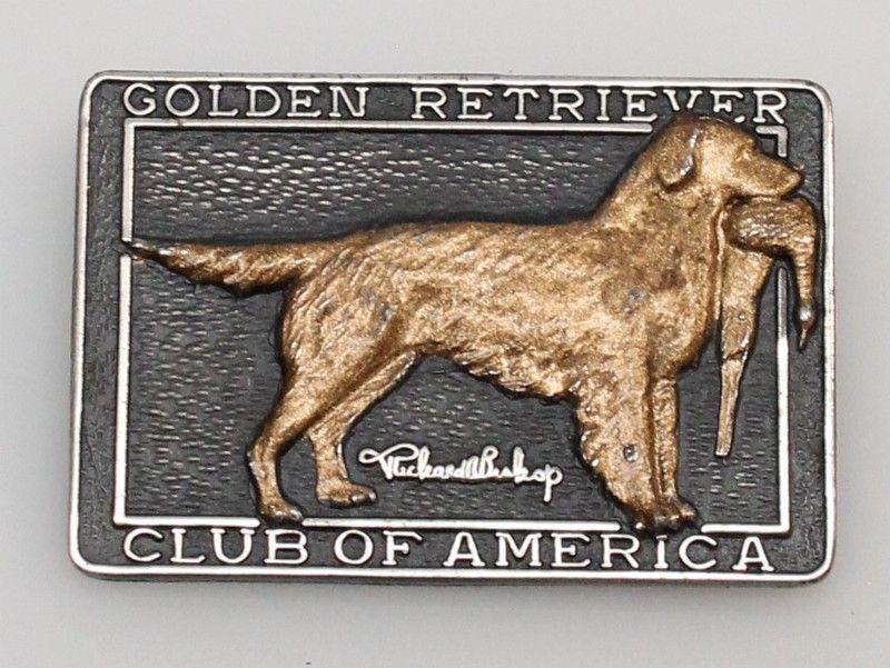 Sterling 925 Golden Retriever Club Of America Pin America Lion