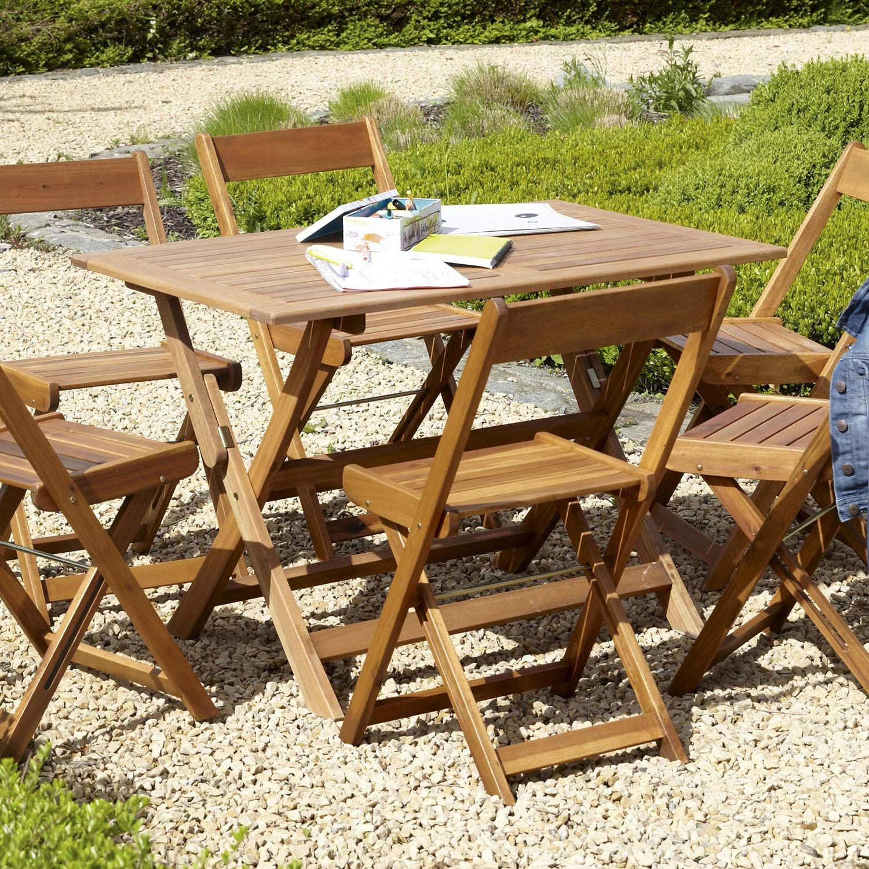Table De Jardin Porto Miel Naterial Leroy Merlin Au Jardin