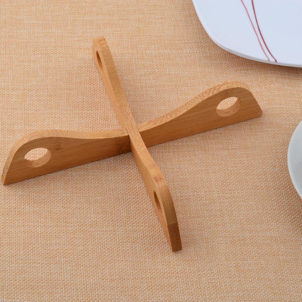 Bamboo Plate Cup Mat Heat Resistant Pot Mat Insulation Pad Kitchen Tool