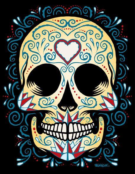 colorful skull drawing wwwimgarcadecom online image