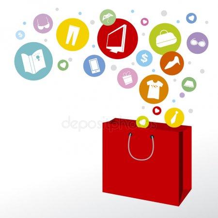 Shopping bag and fashion icon design (มีรูปภาพ)