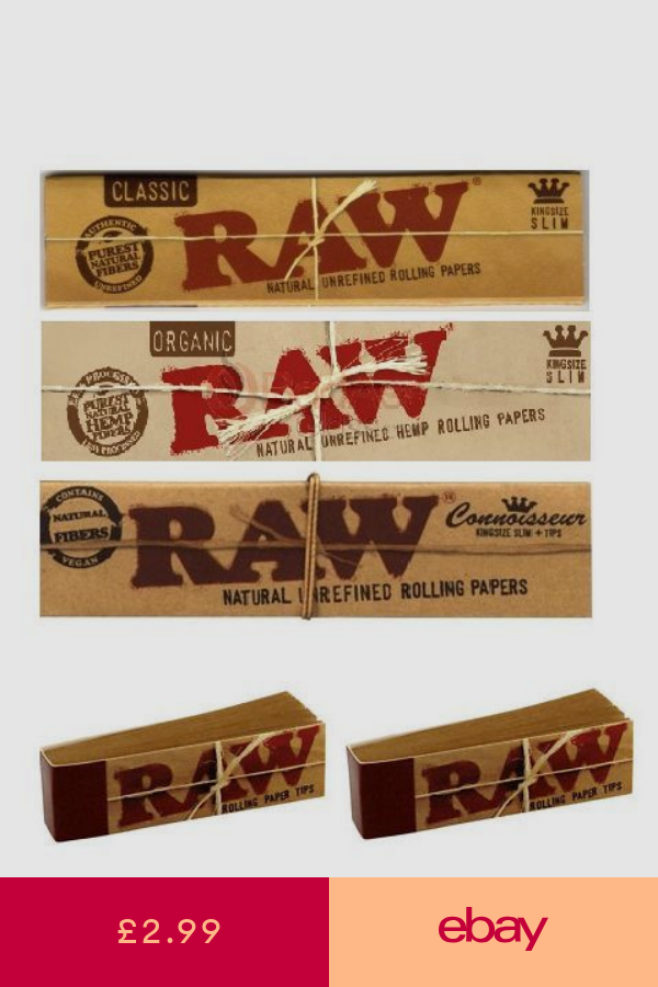 Raw Papers Kingsize Organic Roach Tips Connoisseur Combi Rizla Alternative Raw Papers Rolling Paper Paper