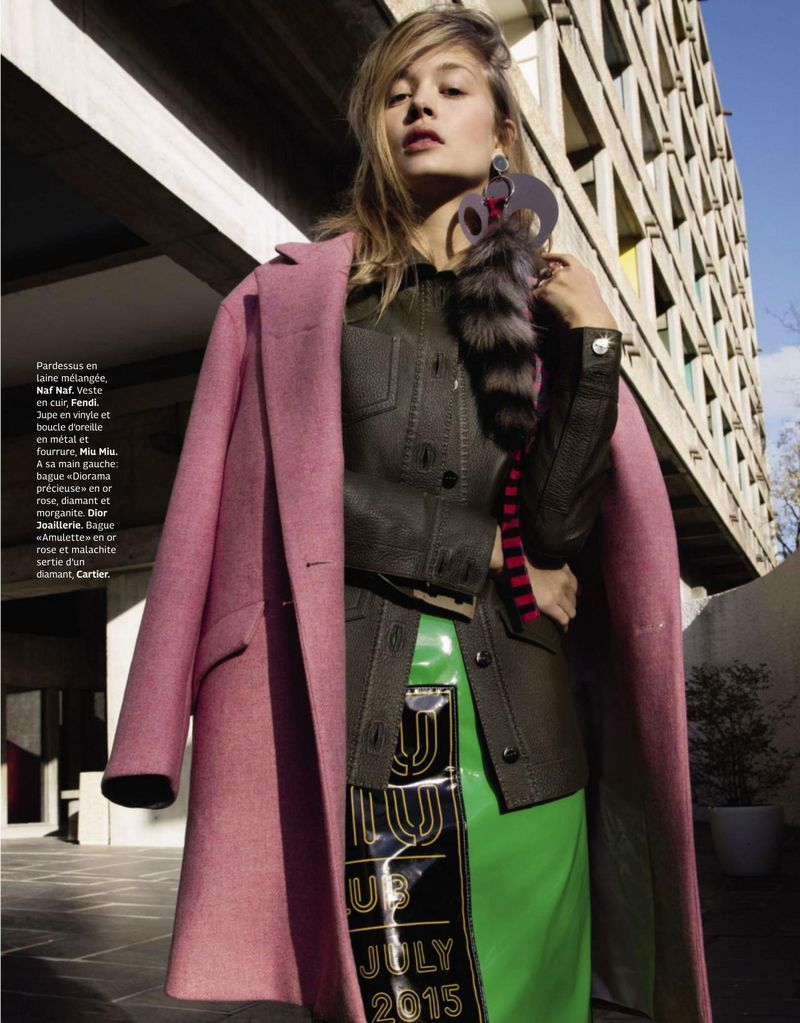 """""""Color Me Softly"""" Rianne Haspels for Grazia France January 2016"""