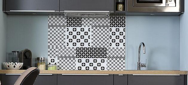 Idée Relooking Cuisine Une Crédence Carreau De Ciment Pour - Carreau credence cuisine pour idees de deco de cuisine